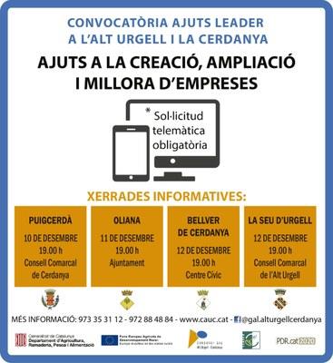 Convocatòria del programa d'ajuts Leader a l'Alt Urgell