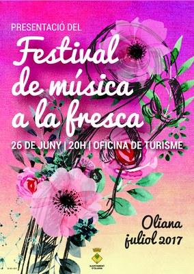 Presentació del Festival de música a la fresca