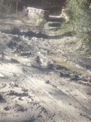 Accés deteriorat Font de la Roqueta